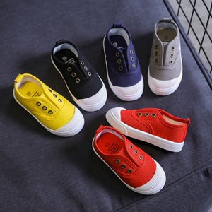 Walking shoes Candy Color Children Shoes For Girls Canvas White Sneakers Comfortable Boys Flat School 210827