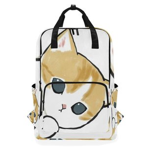 تخصيص حقيبة الظهر للرجال النساء ماء مخصص المحمول مراهق القط طباعة حقيبة مدرسية عارضة السفر mochila