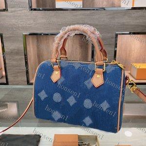 Original high quality designer bag NANO SPEEDY handbags Genuine Leather Blue color shoulder crossbodys mini