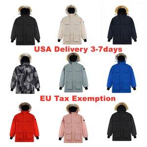 Men's Outerwear Designer Parka Coat Winter Down Jacket Real Wolf Fur Windproof XS-XXL