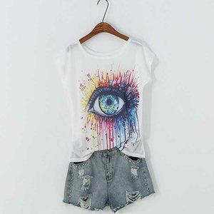 T shirt Summer Print Short Sleeve Tees & Polos Owl Cat Women's Batman Shirt Fashion Designers Women Clothing