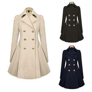 Zogaa 2020 new women trench coat Autumn Women Double breasted Warm Windbreaker Causal Long ladies trench coat female Plus Size1