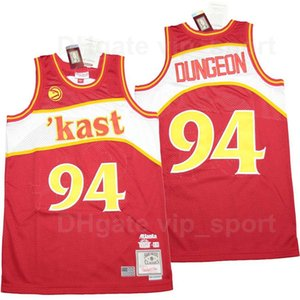 Men OutKast X BR Remix #94 Dungeon Basketball Jersey Kast Atlanta Embroidery Stitched Pure Cotton Sport Red Team Color Top Quality