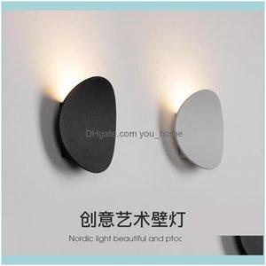 Deco El Supplies Home & Gardenmodern Led Stone Abajur Bathroom Light Luminaria Bedroom Lamp Beside Wall Drop Delivery 2021 Tds3R