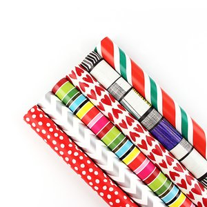 10pcs Gift Wrapping Paper Scrapbooking Paper Christmas Kids Birthday Gift Wrapping Paper Student Handmade Book Cover