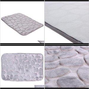 Mats Accessories Home Garden Drop Delivery 2021 Nonslip Flannel Bath Carpet Doormat Kitchen Car Seat Soft Breathable Bathroom Toilet Mat Dqfn