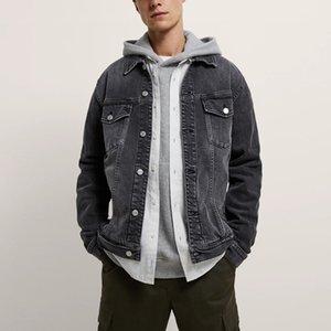 Мужские куртки Мода Длинные рукава Высокое Качество Стиль Жан Джин для мужчин