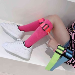 2021 New Spring with Belt Candy Color Children Socks