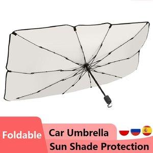 Car Sunshade Foldable Umbrella Type Sun Shade For Window Summer Protection Heat Insulation Cloth Front Shading