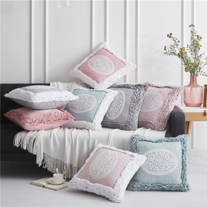 Pillow Case Cotton Embroidered Thicken Pillowcase Simple Fashion High Quality Soft Throw For Home el Decor