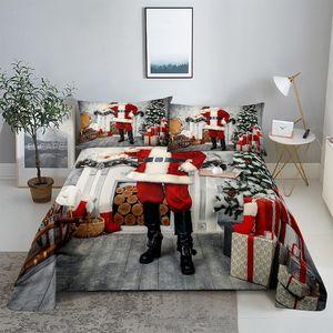 Sheets & Sets Santa Claus Bedding Sheet Home Digital Printing Polyester Bed Flat With Case Print