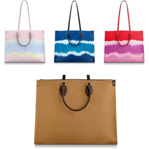 Onthego large capacity totes fashion sac femme leather designers shoulder bags woman handbag duplex print toron handle lady shopping bag