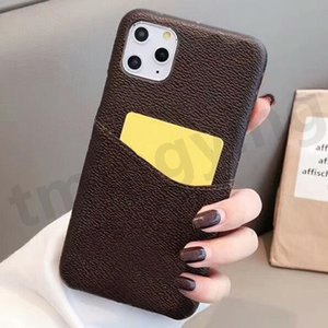 Fashion phone cases for iphone 12 mini 11 pro max XS XR X 7 8 plus designer L embossed case with card Protective cover shell