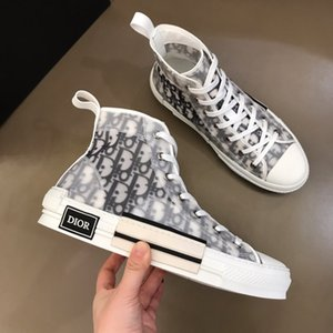 op Quality Designers Shoes b 23 Oblique Technology Canvas Trainers Sneakers Men Women Fashion Breathable Outdoor Platform Flat Casual Trainer Sneaker