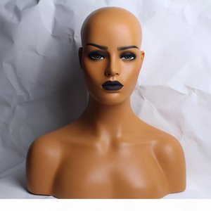 YNF022 Female Realistic Fiberglass Mannequin Head Bust Sale For Wig Jewelry And Hat Display
