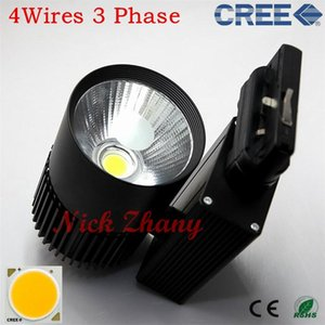 4Wires 3 Phase CREE LED 40W COB Indoor Lighting Track Light Warm White Cool 8pcs lot Lights
