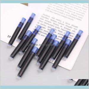 Refills Writing Supplies Office & School Business Industrial 100Pcs Jinhao Universal Black Blue Fountain Pen Ink Sac Cartridges 2Dot6M