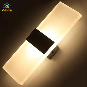 6w 12w Sconce Wall Lamp 85-265V Acrylic Sliver Warm White LED Indoor Lights for Corridor Balcony Aisle Bedside Room Lighting