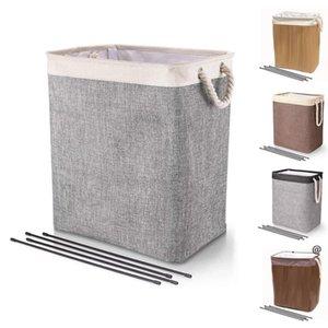 Laundry Basket Foldable Bins Baskets Dirty Clothes Bucket Kids Toys Barrel Storage Bags Household Sundry Organizer SEA FWC7355