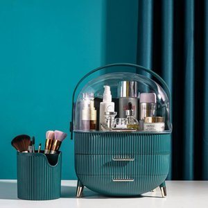 Cosmetic Storage Box Makeup Organizer Jewelry Storage Box Makeup Brush Lipstick Holder Portable Fashion Drawer Desktop Dustproof