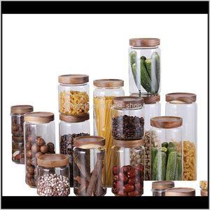Bulk Glass Food Box Dry Grain Tankclear Plastic Container Set With Kitchen Lids Storage Bottle Jars Wmtyxor C3Ayy Aznpf