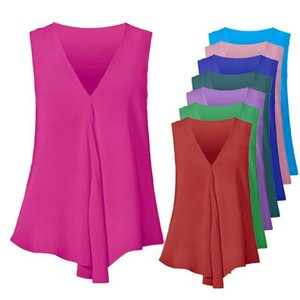 Plus Size Women Shirts S 6Xl Chiffon Blouses Sexy Sleeveless V Neck Shirt Fashion Summer Ladies Tees Tops Blusas Femininas
