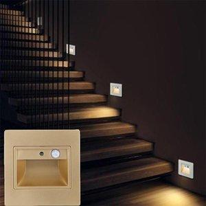 Настенная лампа 2021 ночь светлый интеллектуальный PIR-детектор движения датчик светодиодный лестница утопленная ступенчатая лестница кухня фойе