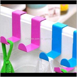 Storage Holders Racks 2Pcs 1Lot Metal Hook Stainless Steel Z Shape Door Desk Cabinet For Kitchen Clothes Towel Hanger Holder Kka7921 O Vo7Le