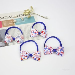 Independence Day Dog Collars Pets Cat Puppy Adjustable Pet bow tie 4th of July Small Dogs Decorative Supplies T2I51837