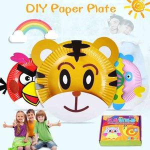 DIY children's education kindergarten crafts, handmade cardboard, adhesive materials, cartoon toys, 2019