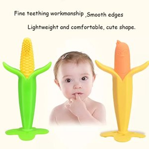 Free DHL Baby Corn Shape Food Grade Silicone Teether Infants Chewy Necklace Autism ADHD Biting Sensory Kids Teething Tubes Chew Toys Toddlers
