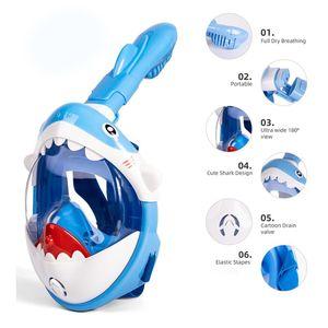 2020 Новый мультфильм маска для подводного плавания для детей Full Face HD HD Fog Snorkel Маска для дайвинга подводное плавание подводное плавание маска для плавания дайвинг оборудование SQCGIGN PPSHOP01