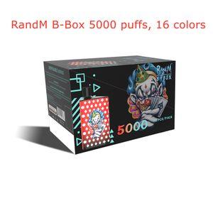 Authentic RandM B-Box 5000 puffs Disposable E cigarette R and M tornado vapes