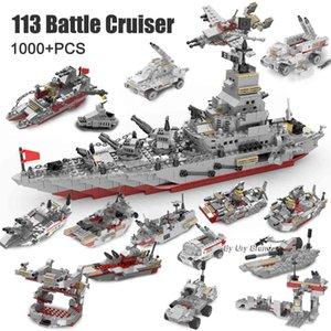 25in1 ww2 военные серии армии армии боевой крейсер современный военный корабль Истребитель танк мини цифры строительные блоки игрушки мальчики создатель подарки 1008