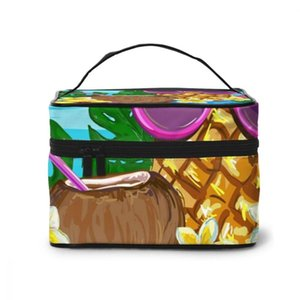 Multi-function Travel Organizer Bag Summertime Pineapple Sunglasses Flowers Cosmetic Beauty Makeup Toiletry Wash Bags & Cases