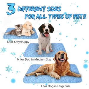 Solid Pet Cool Gel Mat Dog Cat Bed Non-Toxic Cooling Summer Pad 3 Sizes Kennels & Pens