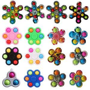 2021 desempacar juguetes Rata Matando Pioneer Spinning Dedo Top Bubble Música Silicone Juguetes para niños