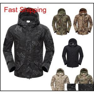 Jackets Outerwear Gear Woodland Hunting Shooting Coat Tactical Combat Clothing Camouflage Windbreaker G8 Outdoor Hoody Jacket No05213