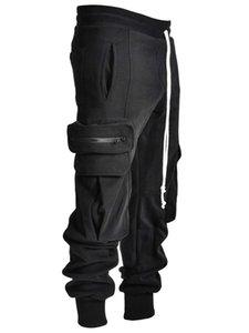 Pantalones casuales de moda para hombre Ropa Deportiva Mujer Gimnasio Baggy Wide-Pierna Monos con un Corset CN (Origin) 456