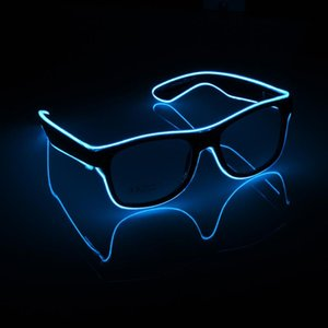 Flashing Glasses EL Wire LED Glowing Party Supplies Lighting Novelty Gift Bright Light Festival Glow Sunglasses Decoration