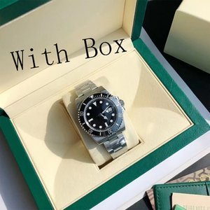 Mens watch high quality ceramic bezel 116610 automatic mechanical 2813 movement stainless steel luminous diving 50m sapphire luxe
