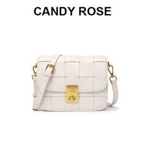 Candyrose Single Bag Bag Веб-сайт аутентичные CR тканый пакет TOFU Основатель трехмерных мягких металлических пряжек наклонная сумочка 2021