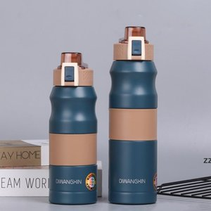 newVacuum Insulated Water Bottle Anti-slip Stainless Steel Travel Camping Direct Drinking Tumbler with Lids 500ml 680ml sea shipping HWD8508