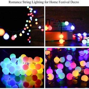 Strings Solar String Lights 9.5M 50 LED Garden Decoration IP44 Waterproof Decor For Party Wedding Garland Street Lighting Yard Patio