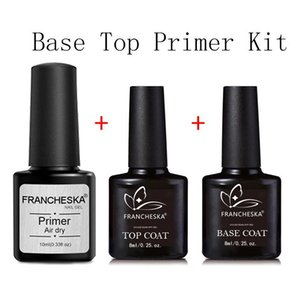 30ml Black Bottle Nail Gel Base Coat Top Desiccant 3 In 1 Art Set TSLM1
