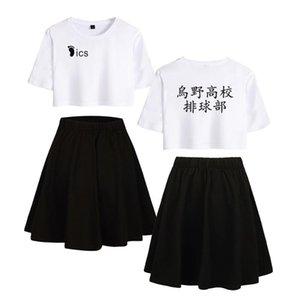Frauen Mädchen Kleid Anzug Haikyuu Hemd Kleidung Japan Anime Haikyu Crop top t Röcke Set Volleyball 2 Stück T-Shirt Teenager Männer Shorts