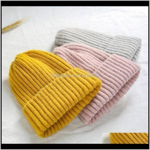 Headband Accessories & Tools Hair Products Drop Delivery 2021 Young Lovers Womens Autumn Women Wool Knit Hat Cuff Beanie Watch Cap Girls Spri
