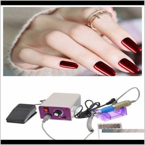 Salon Health Drop Delivery 2021 1 Set Tools Nail Equipment Easy Use Mini Hine Us Plug With 6Pcs Grinding Head For Art Women Beauty Makeup P3O