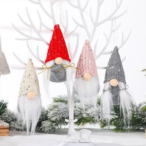 Christmas Decoration Gnome Plush Doll Pendant Xmas Tree Hanging Ornament New Year Kids Gifts Party Supply FWB11208