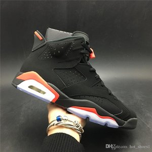 Air 6 Black Infrared 384664-060 6s VI Men Sports Shoes Casual Sneakers Best Quality Trainers With Original Box US7-13